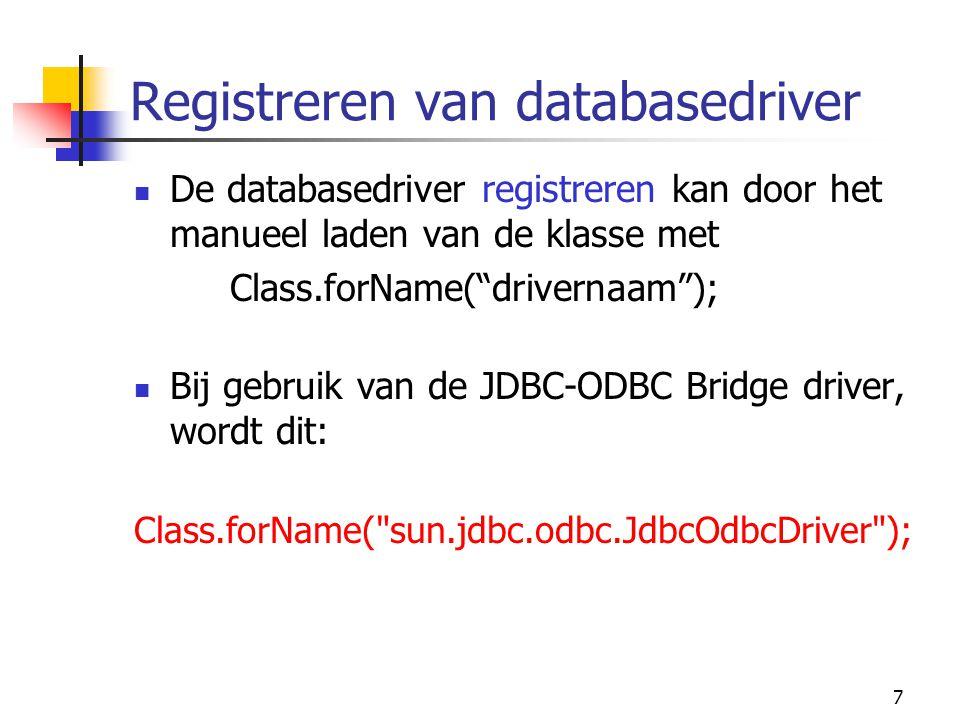 Registreren van databasedriver