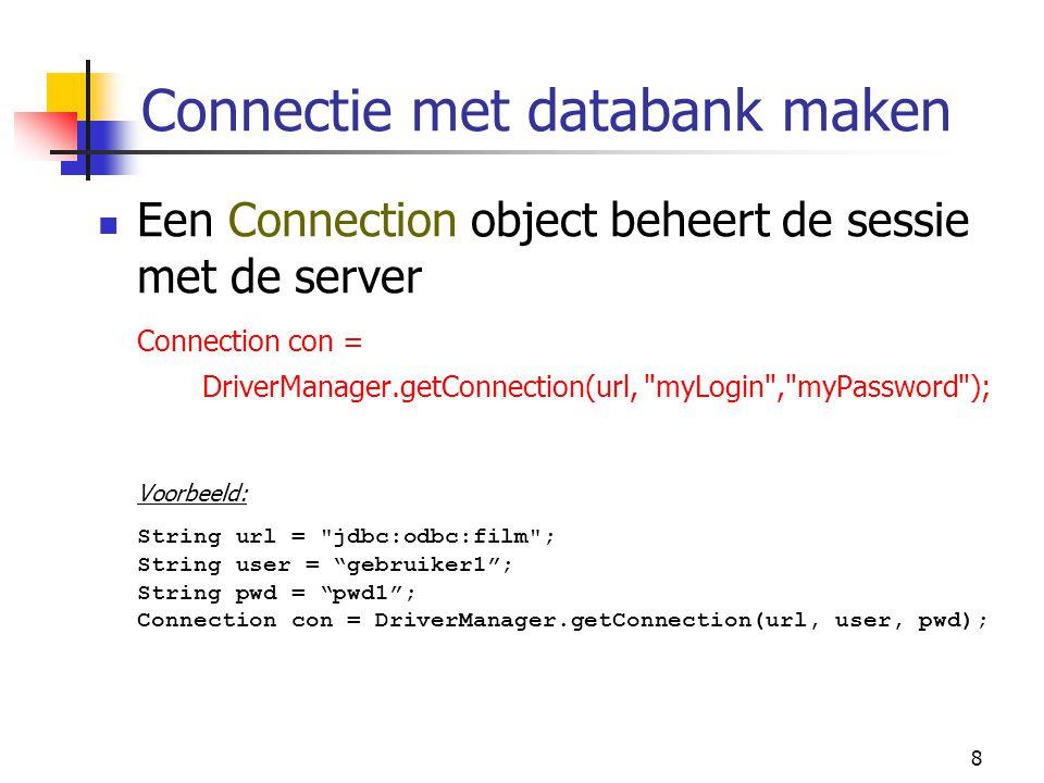 Connectie met databank maken