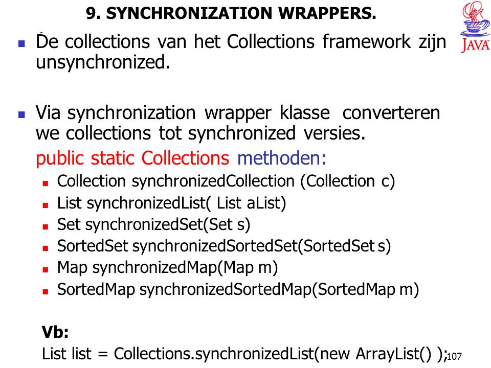 9. SYNCHRONIZATION WRAPPERS.