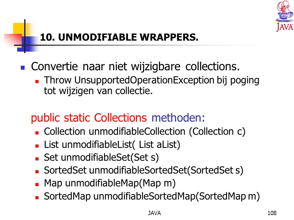 10. UNMODIFIABLE WRAPPERS.