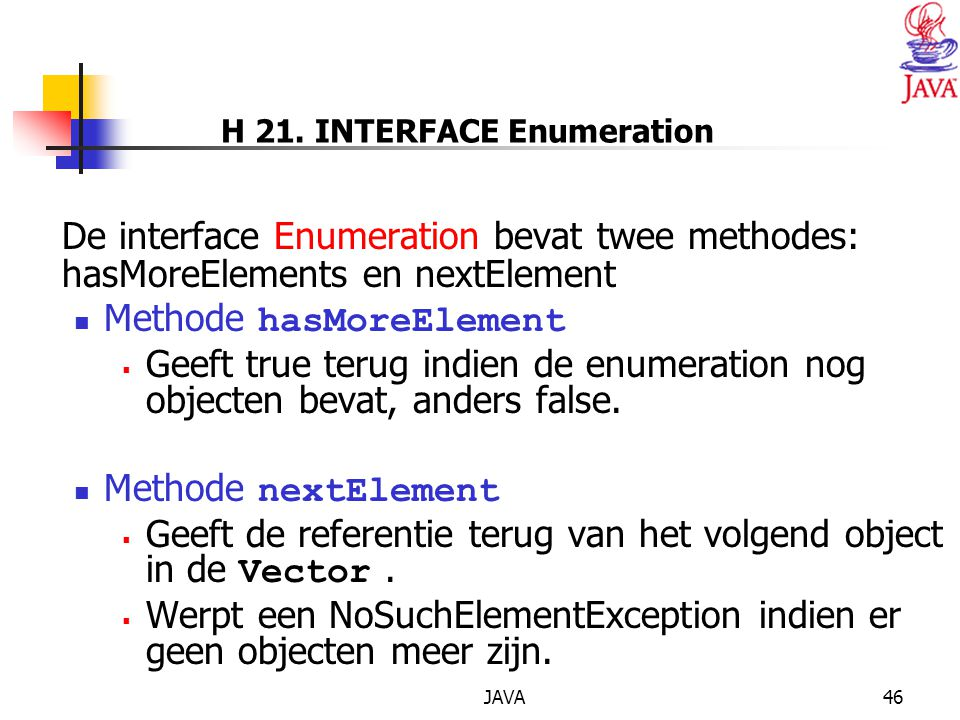 H 21. INTERFACE Enumeration