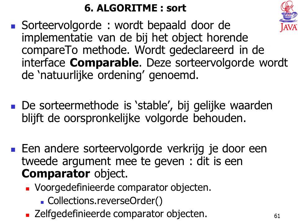 6. ALGORITME : sort