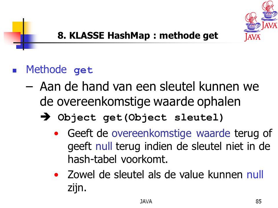 8. KLASSE HashMap : methode get