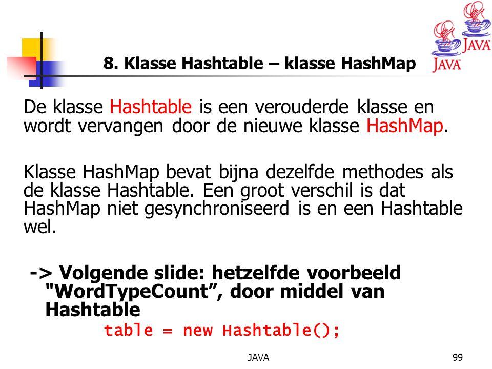 8. Klasse Hashtable – klasse HashMap