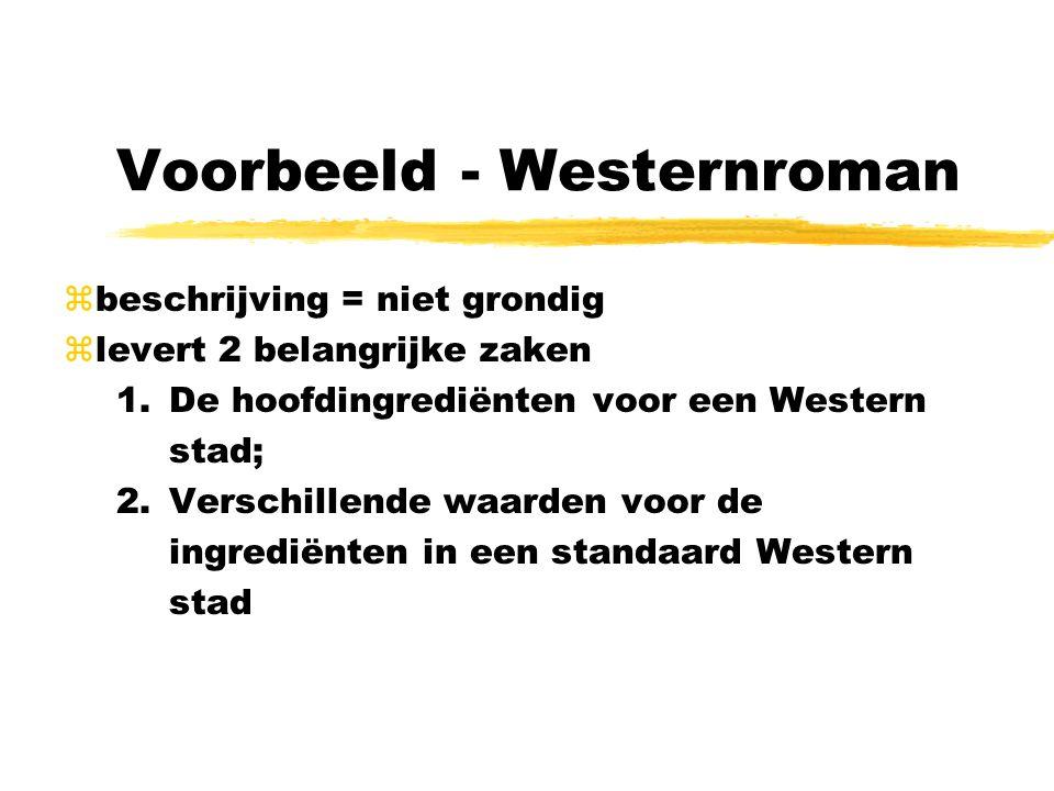 Voorbeeld - Westernroman