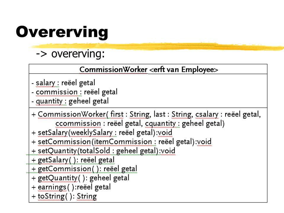 Overerving -> overerving: