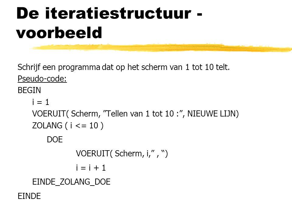 De iteratiestructuur - voorbeeld