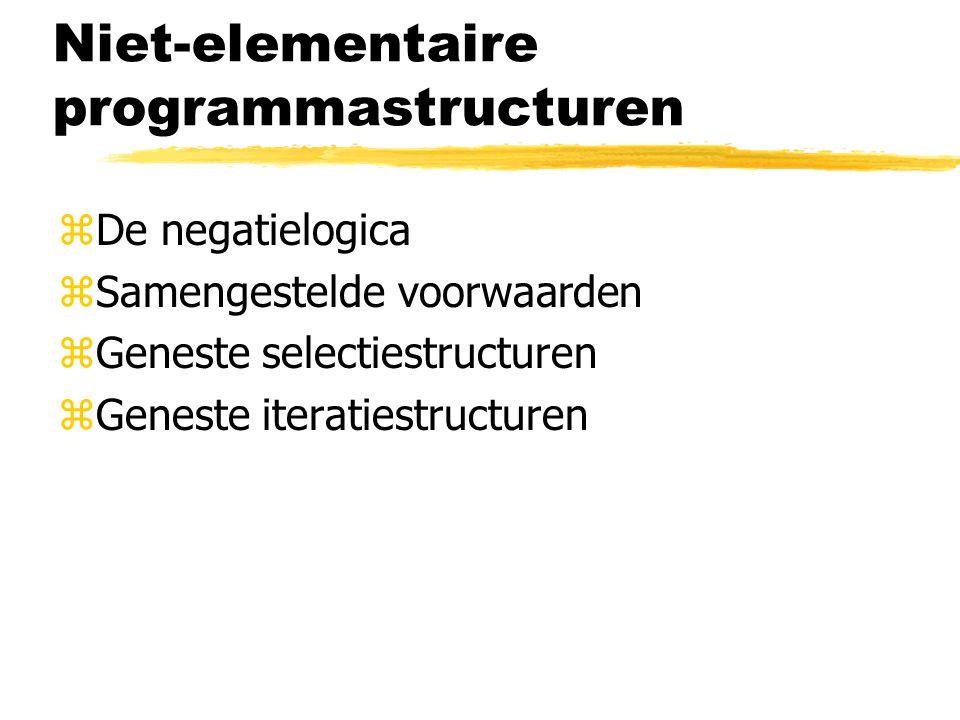 Niet-elementaire programmastructuren