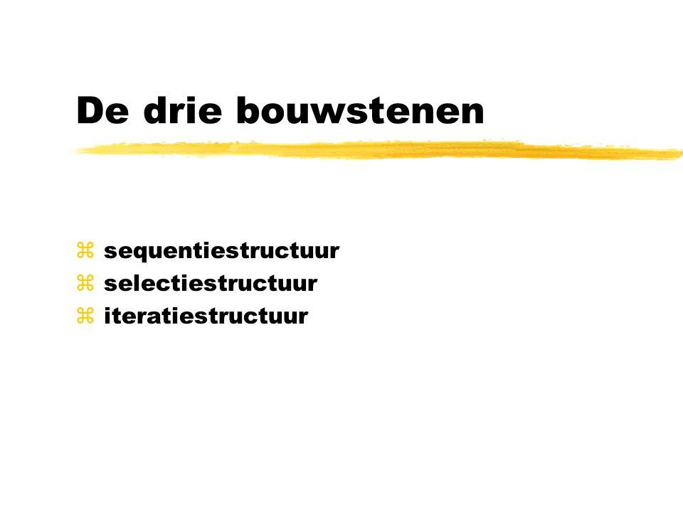 sequentiestructuur selectiestructuur iteratiestructuur