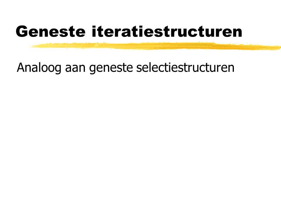 Geneste iteratiestructuren