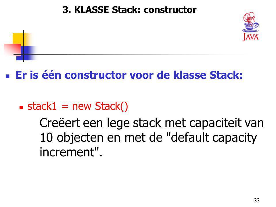 3. KLASSE Stack: constructor