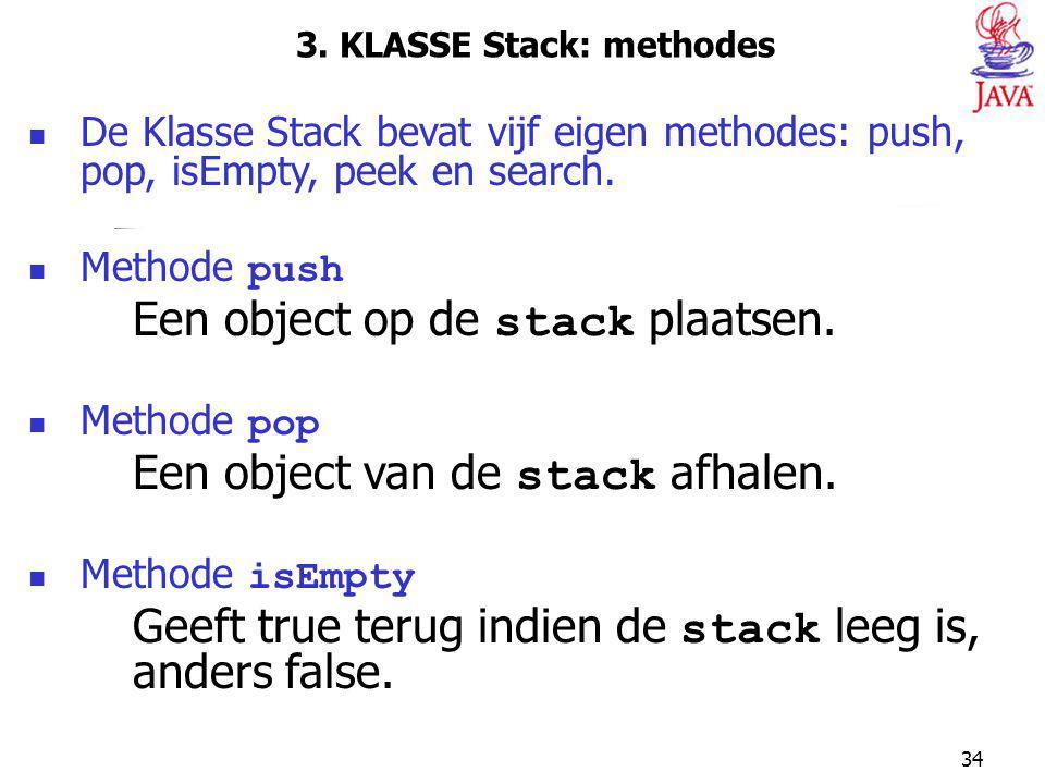 3. KLASSE Stack: methodes