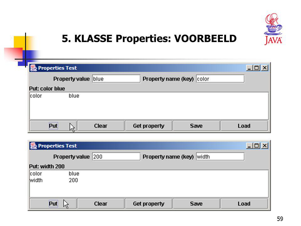 5. KLASSE Properties: VOORBEELD