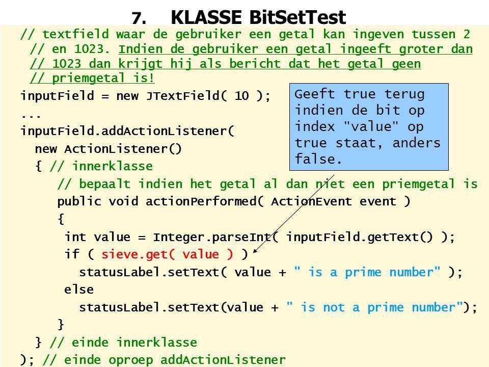 7. KLASSE BitSetTest