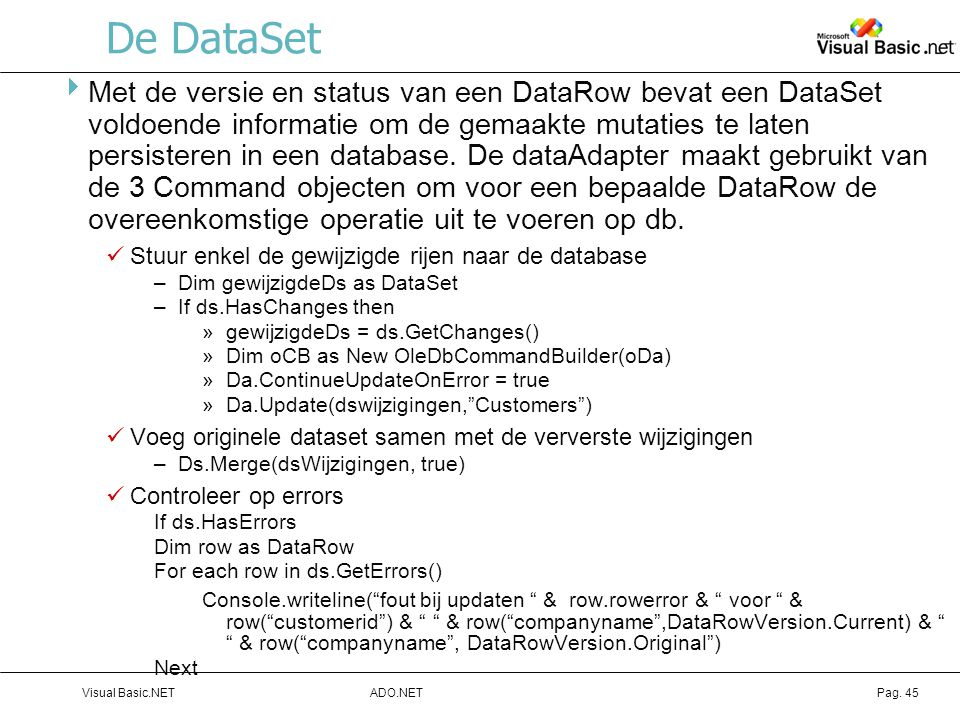 De DataSet