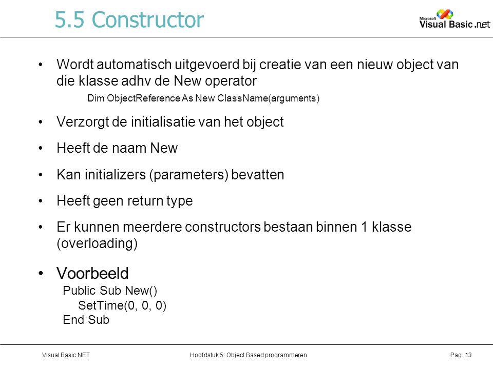 5.5 Constructor Voorbeeld