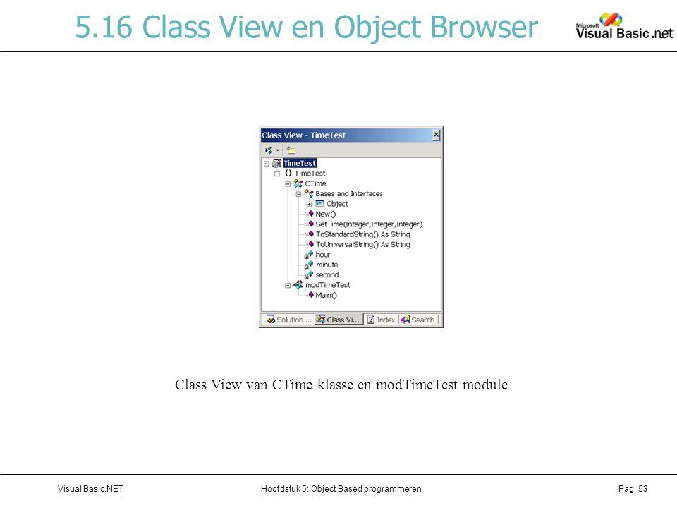 5.16 Class View en Object Browser