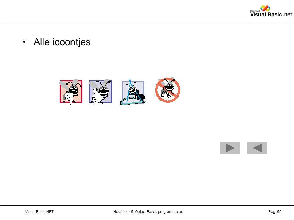 Alle icoontjes Visual Basic.NET