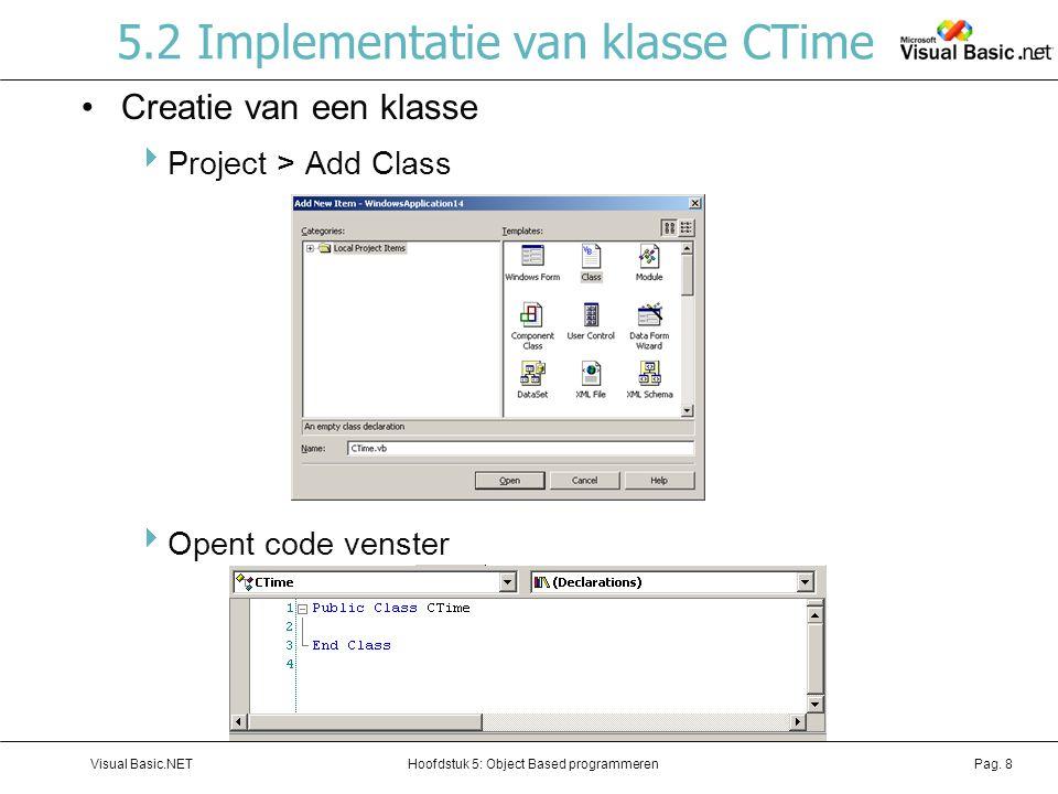 5.2 Implementatie van klasse CTime