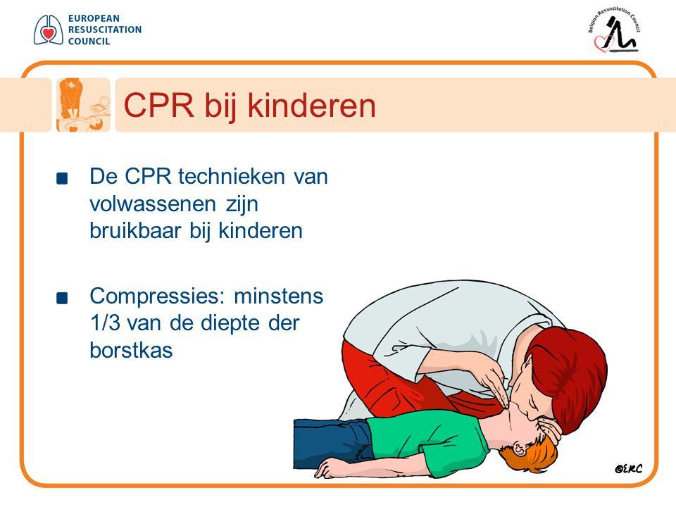 CPR bij kinderen De CPR technieken van volwassenen zijn bruikbaar bij kinderen.