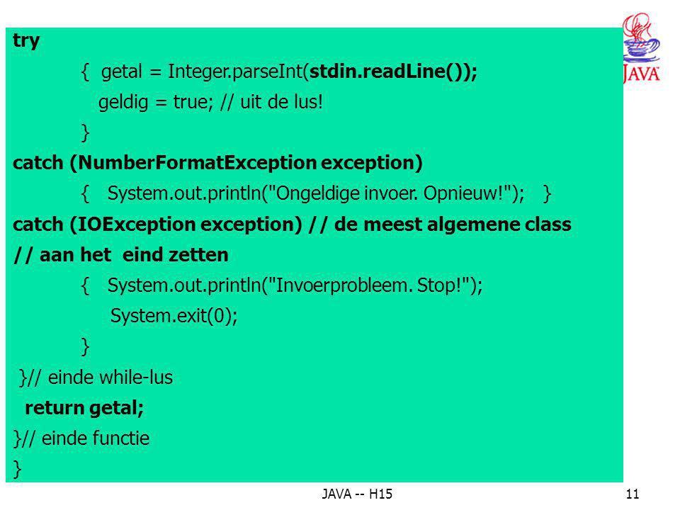 { getal = Integer.parseInt(stdin.readLine());