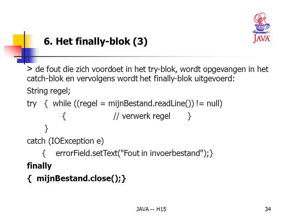 6. Het finally-blok (3)