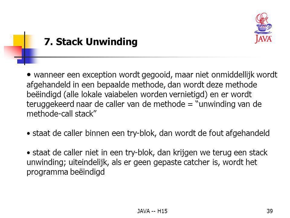 7. Stack Unwinding