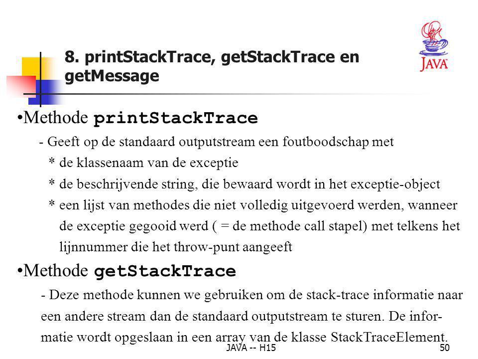 Methode printStackTrace