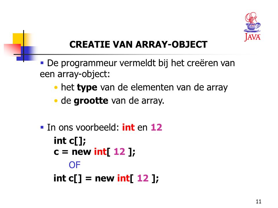CREATIE VAN ARRAY-OBJECT