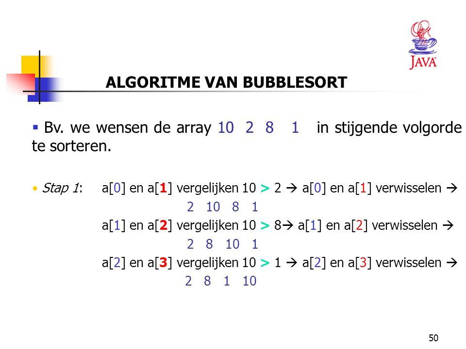 ALGORITME VAN BUBBLESORT
