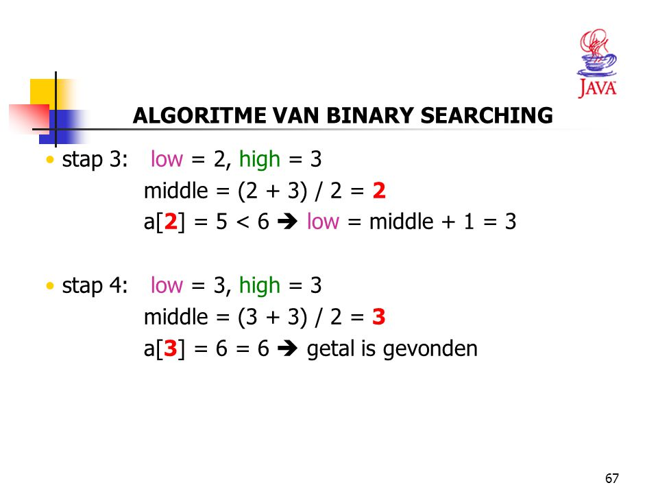 ALGORITME VAN BINARY SEARCHING