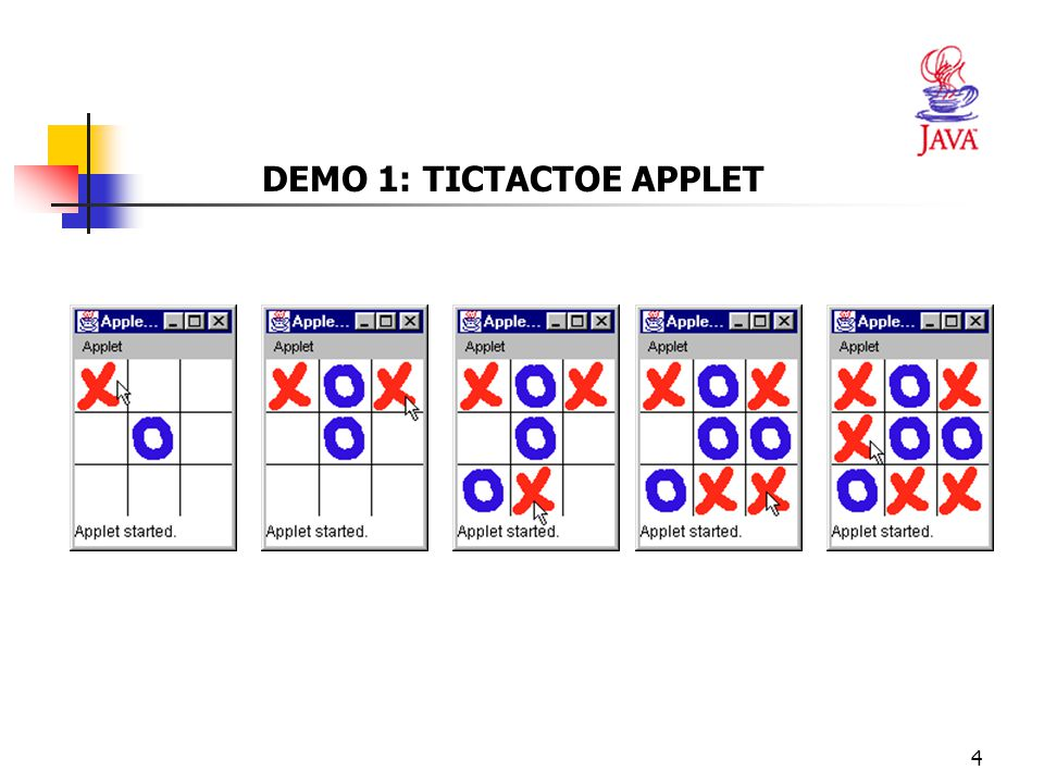 DEMO 1: TICTACTOE APPLET