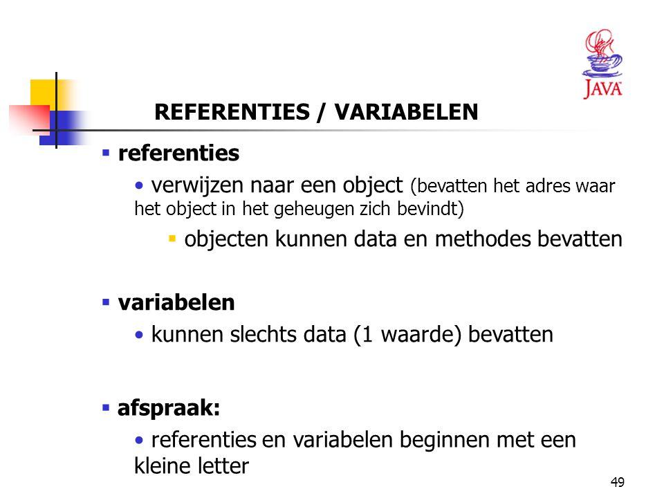 REFERENTIES / VARIABELEN