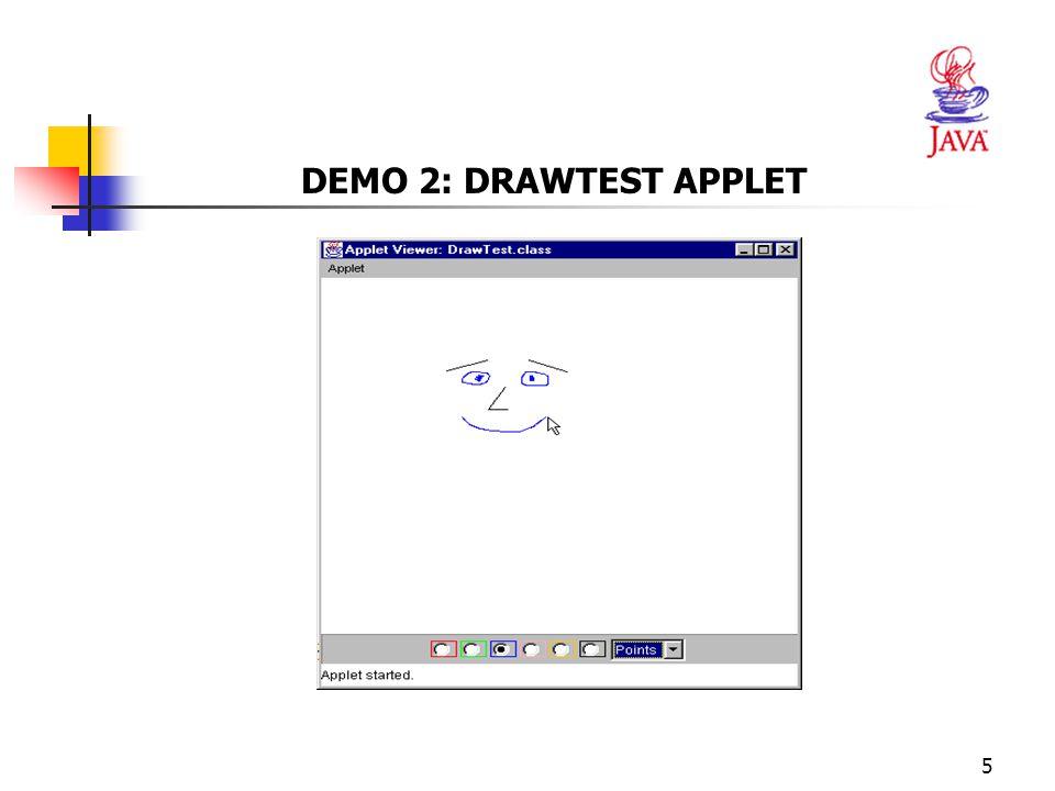 DEMO 2: DRAWTEST APPLET