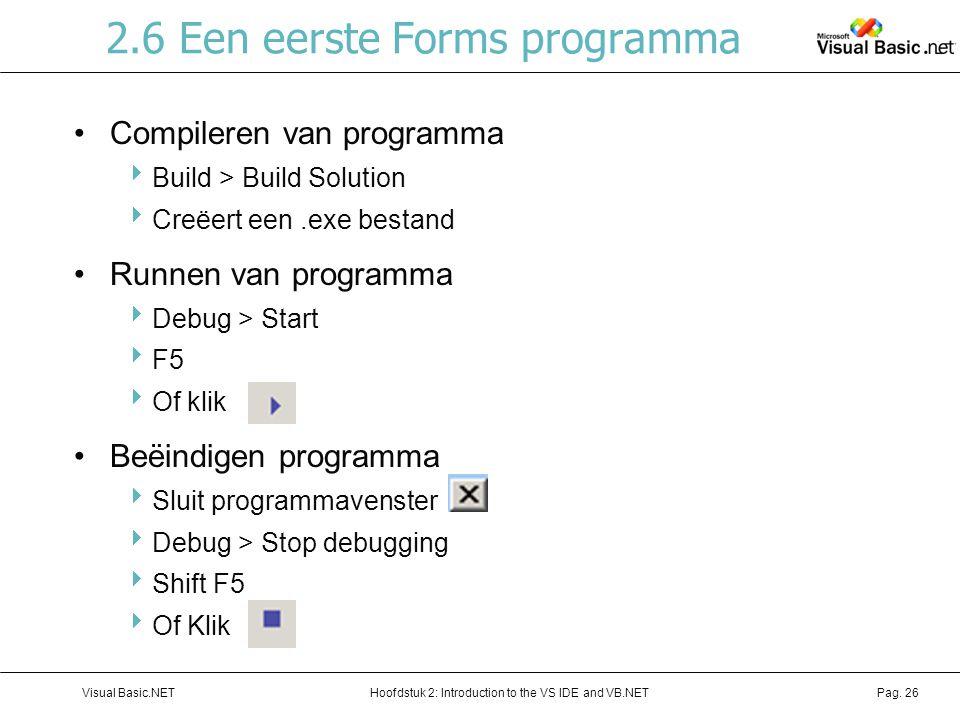 2.6 Een eerste Forms programma