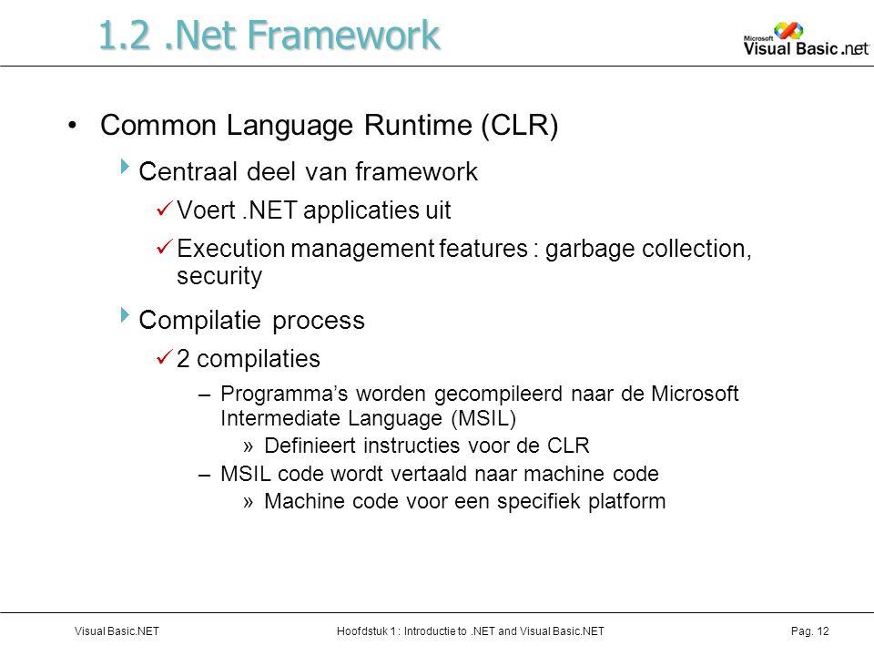 1.2 .Net Framework Common Language Runtime (CLR)