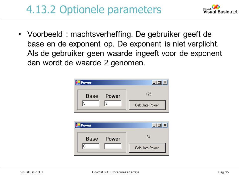4.13.2 Optionele parameters