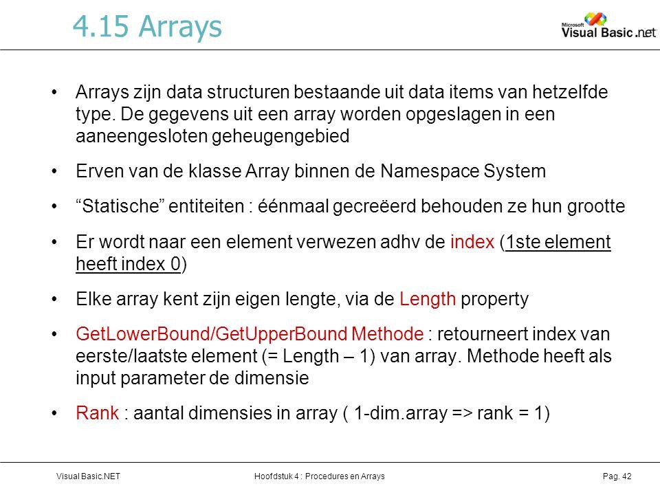 4.15 Arrays
