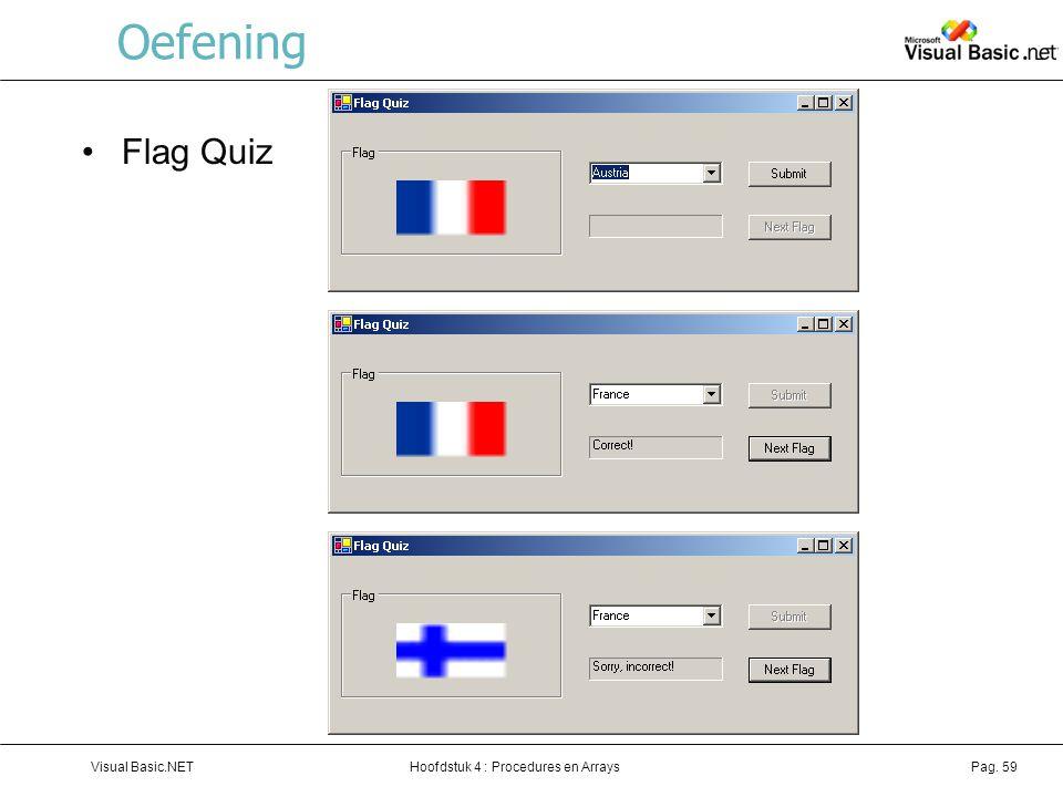 Oefening Flag Quiz Visual Basic.NET