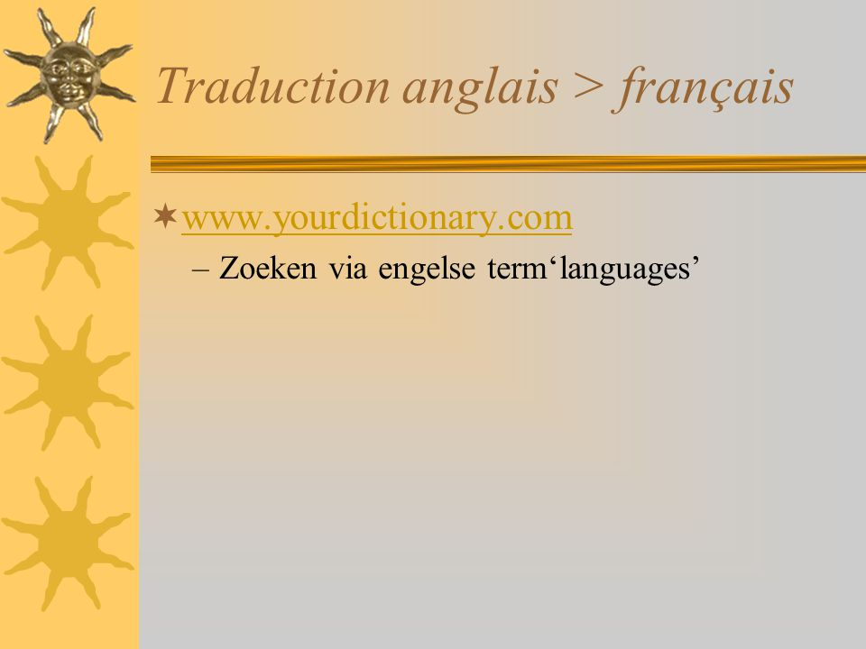 Traduction anglais > français
