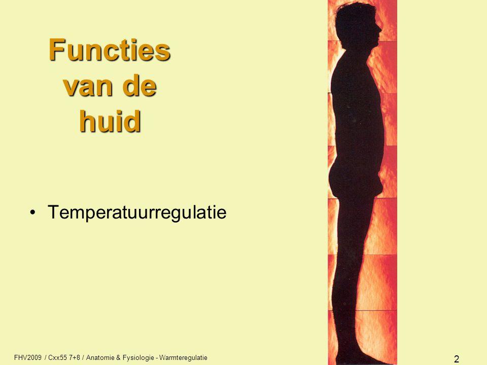 Functies van de huid Temperatuurregulatie