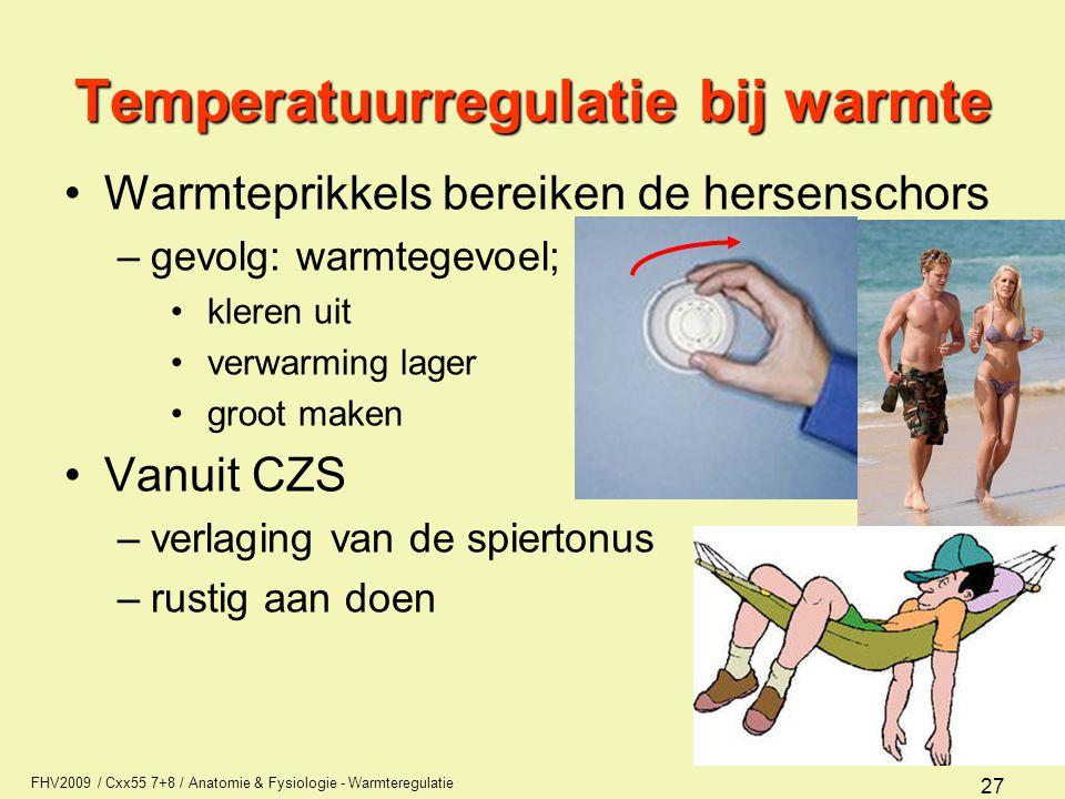Temperatuurregulatie bij warmte