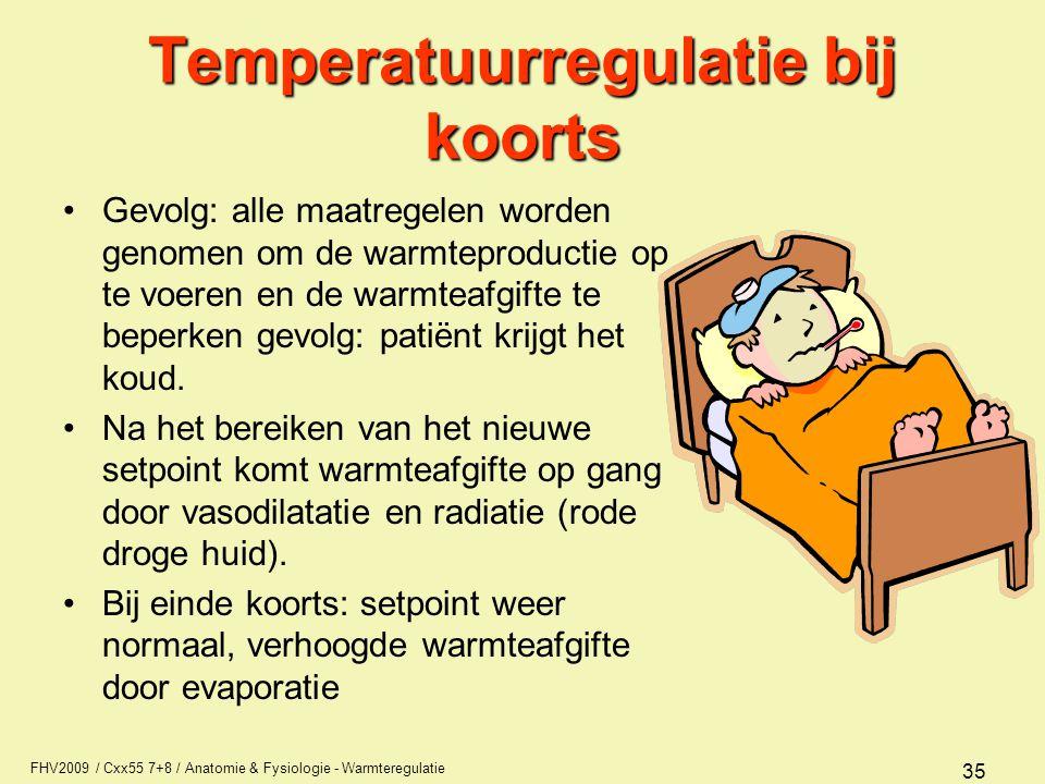 Temperatuurregulatie bij koorts