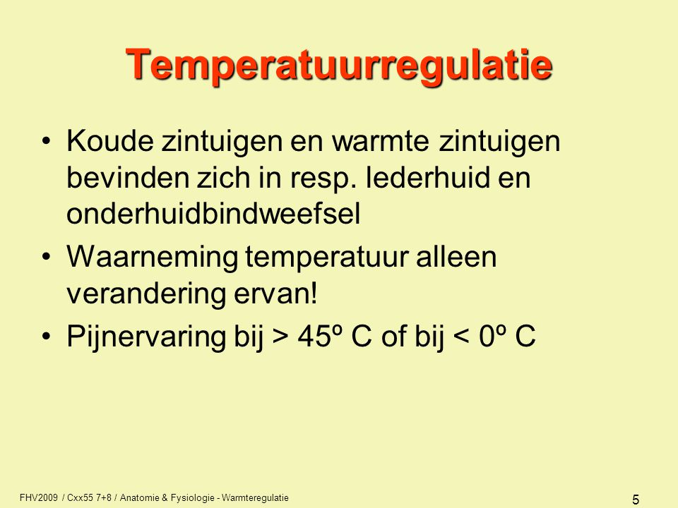 Temperatuurregulatie