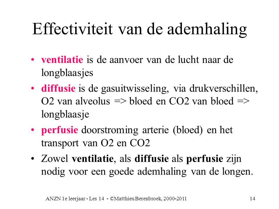Effectiviteit van de ademhaling