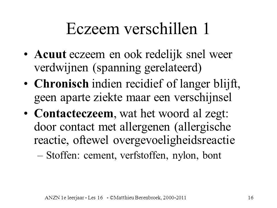 ANZN 1e leerjaar - Les 16 - ©Matthieu Berenbroek, 2000-2011
