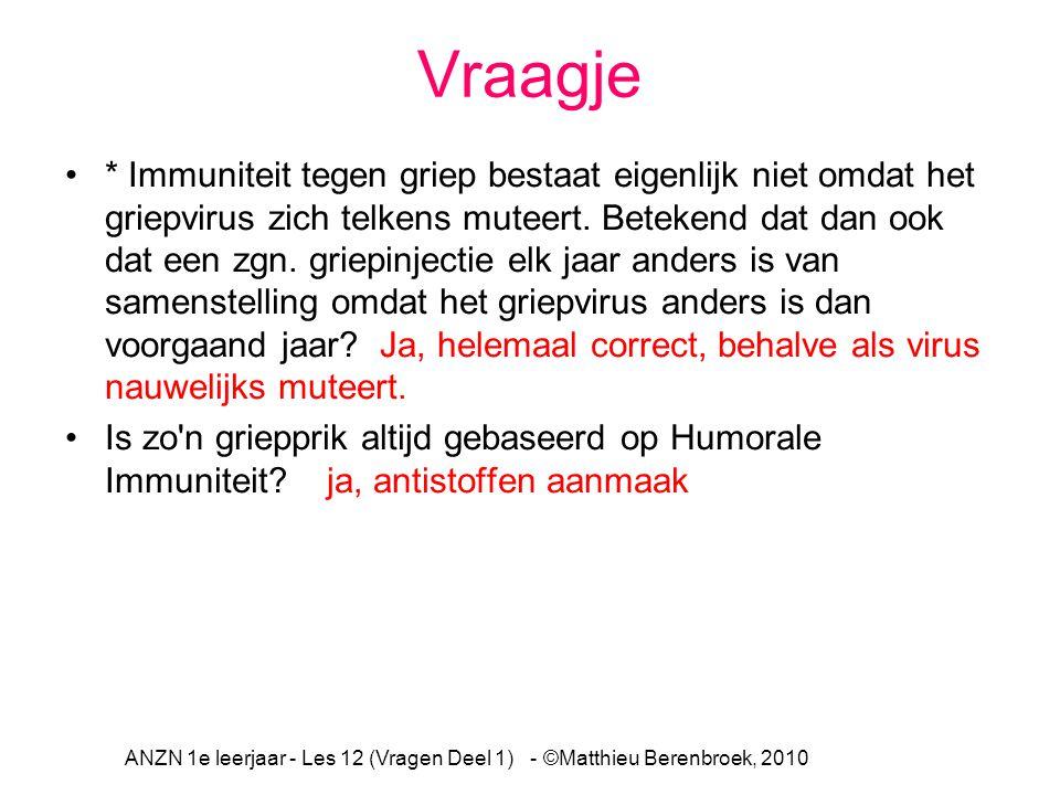 ANZN 1e leerjaar - Les 12 (Vragen Deel 1) - ©Matthieu Berenbroek, 2010
