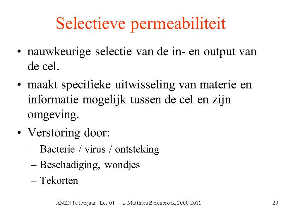 Selectieve permeabiliteit