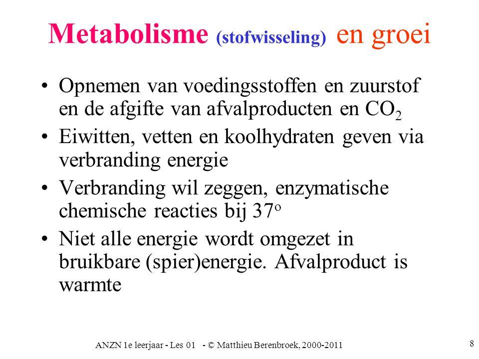 Metabolisme (stofwisseling) en groei