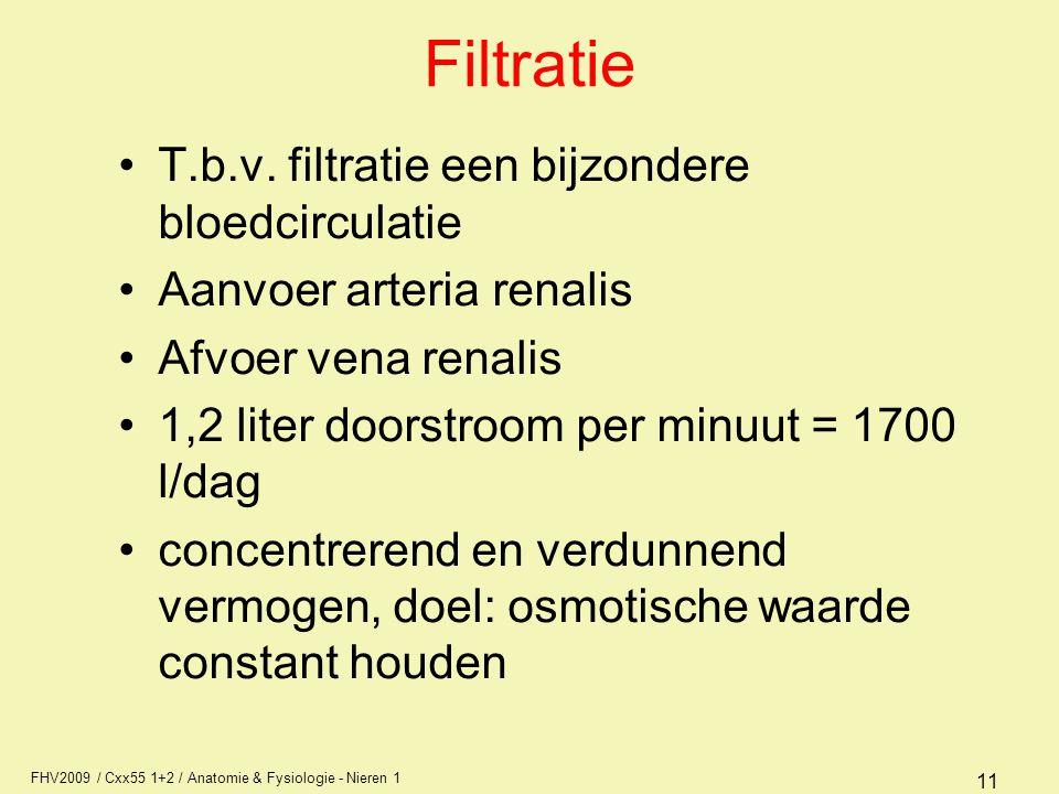 Filtratie T.b.v. filtratie een bijzondere bloedcirculatie
